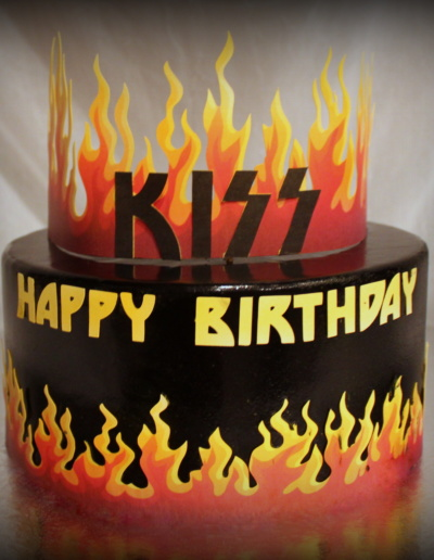 Flames Birthday Cake