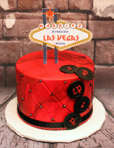 Married in Las Vegas Cake